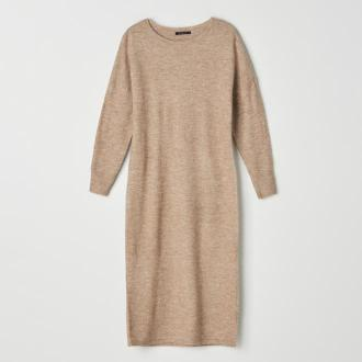 Mohito - Swetrowa sukienka Eco Aware - Beżowy