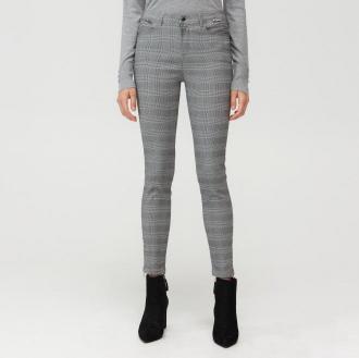 Mohito - Spodnie skinny fit w kratkę - Szary