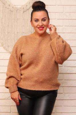 Sweter kimono prosty DARIA karmelowy