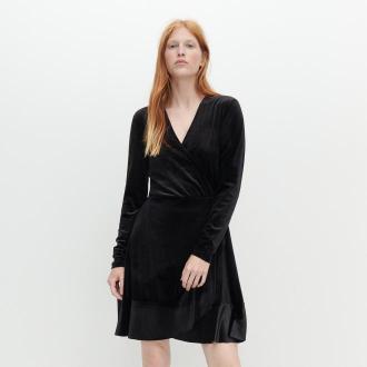 Reserved - Kopertowa sukienka - Czarny
