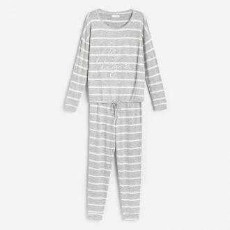 Reserved - Piżama ze spodniami - Szary