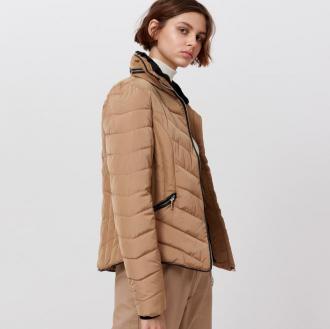 Cropp - Pikowana kurtka z ekologicznym wypełnieniem - Beżowy