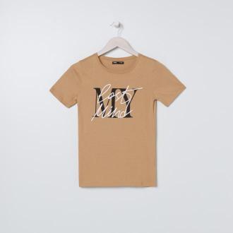 Sinsay - Koszulka z napisem - Beżowy