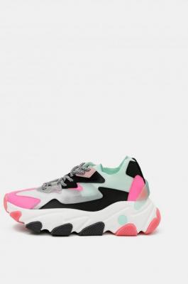 Różowo-białe sneakersy na platformie TALLY WEiJL - 36