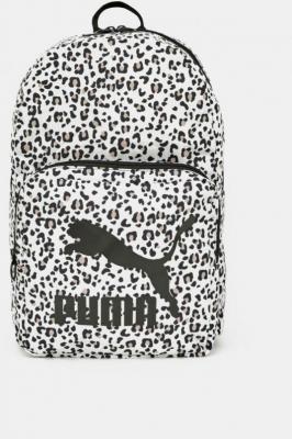 Biały wzorzysty plecak Puma