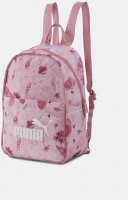 Różowy damski plecak Puma w kwiaty