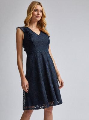 Granatowa koronkowa sukienka Dorothy Perkins - XS