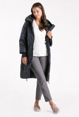 Ocieplany pikowany płaszcz