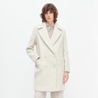 Reserved - Wełniany płaszcz w jodełkę - Wielobarwny