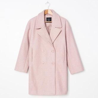 House - Dwurzędowy płaszcz oversize - Różowy