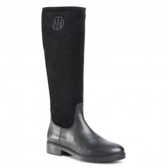 Oficerki TOMMY HILFIGER - Moder Tommy Long Boot FW0FW05163 Black BDS