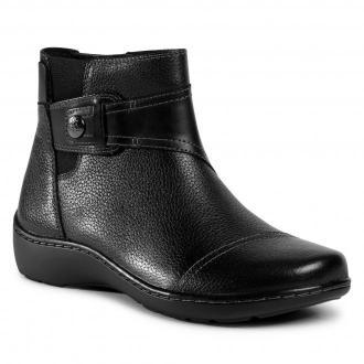 Botki CLARKS - Cora Tropic 261549934  Black Leather