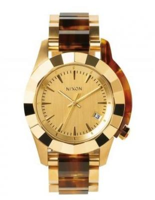 Nixon MONARCH GOLDMOLASSES analog mens watch