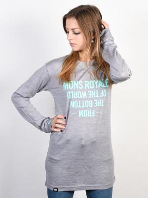 MONS ROYALE BOYFRIEND Grey Marl kobiety bielizna termo - L