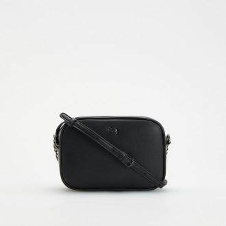 Reserved - Mała torebka na regulowanym pasku - Czarny