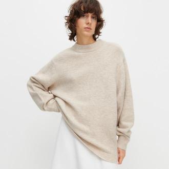 Reserved - Sweter ze stójką - Beżowy