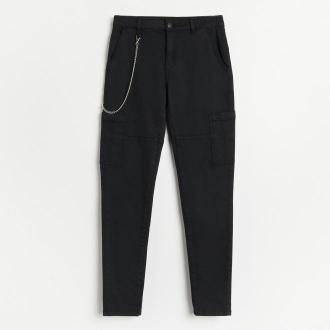 Reserved - Spodnie z łańcuchem - Czarny