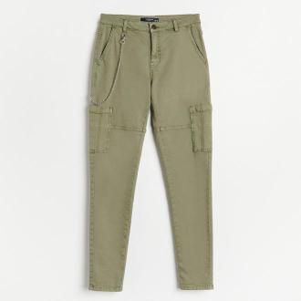 Reserved - Spodnie z łańcuchem - Khaki