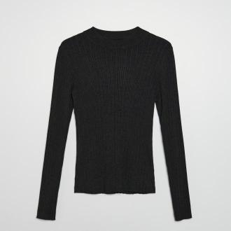 Cropp - Sweter z półgolfem - Szary