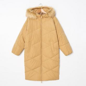House - Pikowany płaszcz oversize - Kremowy