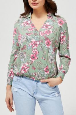 Moodo zielona koszula w kwiatki - XS