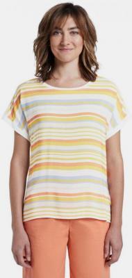 Żółto-biała koszulka damska w paski Tom Tailor - S