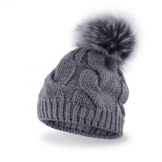Zimowa czapka damska w warkocze
