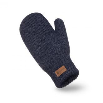 Granatowe rękawiczki damskie z jednym palcem