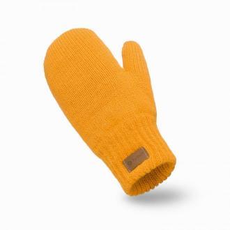 Rękawiczki damskie z jednym palcem w kolorze miodowym