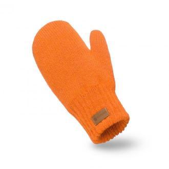 Pomarańczowe rękawiczki damskie z jednym palcem
