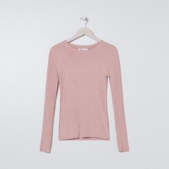 Sinsay - Sweter z wiskozy - Różowy