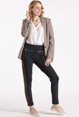 Spodnie z szerokim lampasem