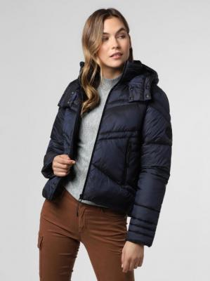 Superdry - Damska kurtka pikowana, niebieski