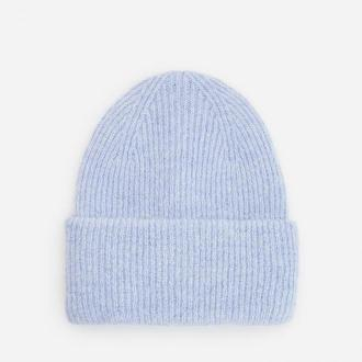 Reserved - Dzianinowa czapka w prążek - Niebieski