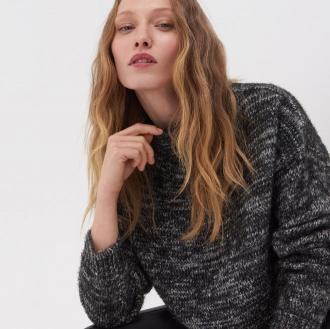 Sinsay - Puszysty sweter - Czarny