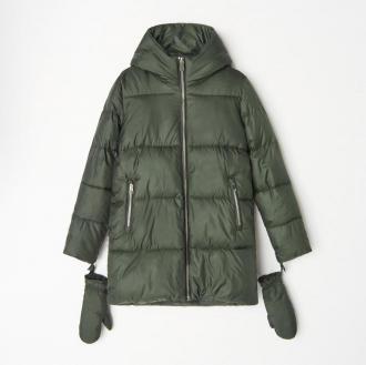 Mohito - Pikowana kurtka z rękawiczkami - Khaki