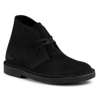 Botki CLARKS - Desert Boot 2 261556664 Black Suede