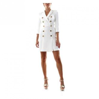 Elisabetta Franchi Ab06006E2 Sukienki Sukienki Biały Dorośli Kobiety