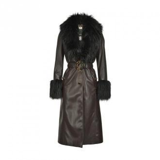 Pinko Coat Płaszcze Brązowy Dorośli Kobiety Rozmiar: 42 IT