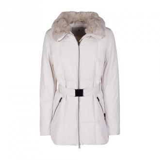 Woolrich płaszcz Płaszcze Biały Dorośli Kobiety Rozmiar: M