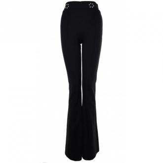 Fracomina Eleganckie spodnie W03501 Spodnie Czarny Dorośli Kobiety