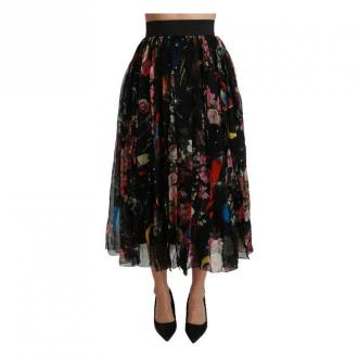 Dolce & Gabbana Kwiatowy wysoką talią Maxi Spódnica plisowana Spódnice