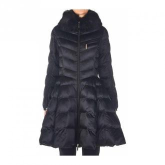 Elisabetta Franchi Coat Pi32Z06E2 02 Płaszcze Czarny Dorośli Kobiety