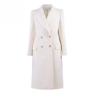 Alexander McQueen podwójny płaszcz sprzężonych Płaszcze Biały Dorośli