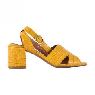 Bruno Premi Crocodile print sandals Obuwie Żółty Dorośli Kobiety