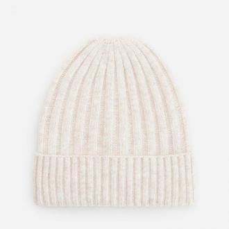 Reserved - Prążkowana czapka z poliestrem z recyklingu - Kremowy