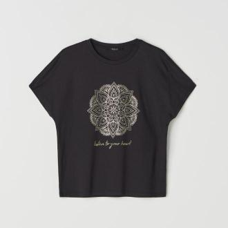 Mohito - Koszulka z połyskującym nadrukiem - Czarny