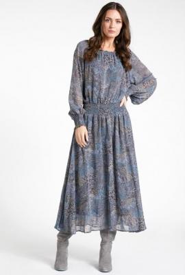 Sukienka maxi ze ściągaczem w talii