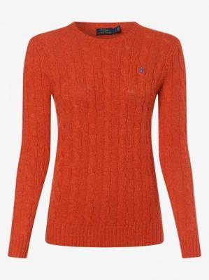 Polo Ralph Lauren - Sweter damski z dodatkiem kaszmiru, pomarańczowy