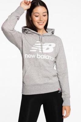 Bluza New Balance BLUZA ESSENTIALS PULLOVER HOODIE AG WT03550AG GREY